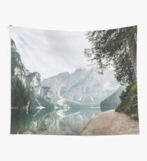 Mountain Lake Hideaway Vacation Nature Photography Wall Tapestry