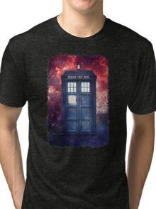 Police Blue Box Tee The Doctor T-Shirt Tri-blend T-Shirt