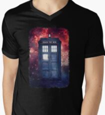 Police Blue Box Tee The Doctor T-Shirt Men's V-Neck T-Shirt