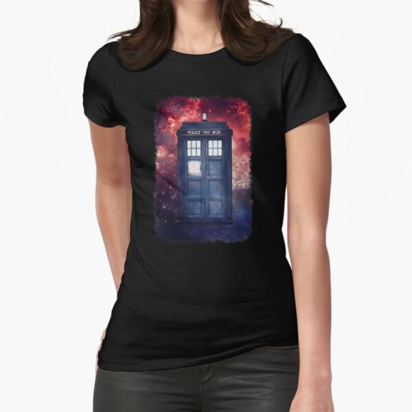 Police Blue Box Tee The Doctor T-Shirt Fitted T-Shirt