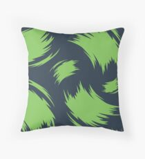 Painterly Green Throw Pillow
