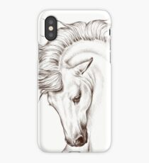 Andalusian Horse Drawing iPhone Case