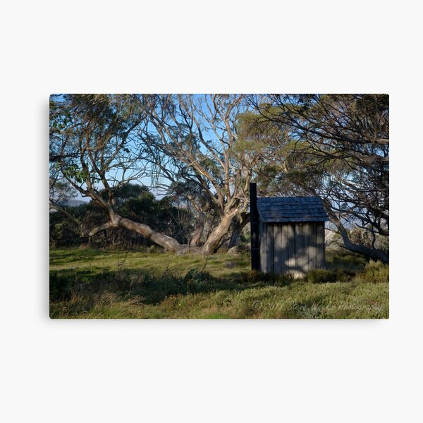 Wallace Hut dunny Canvas Print