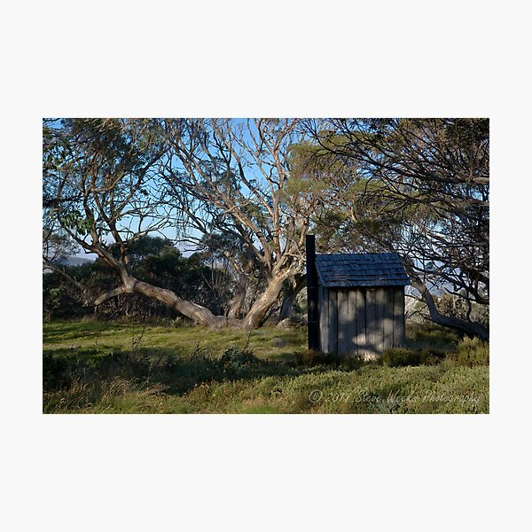 Wallace Hut dunny Photographic Print