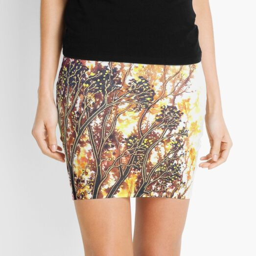 Autumn Begins - Trees Mini Skirt