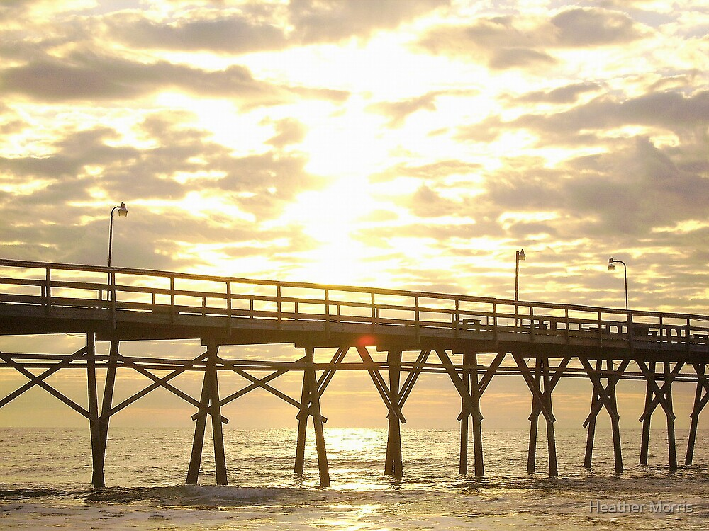 Sunset Pier Sunset by Heather Morris