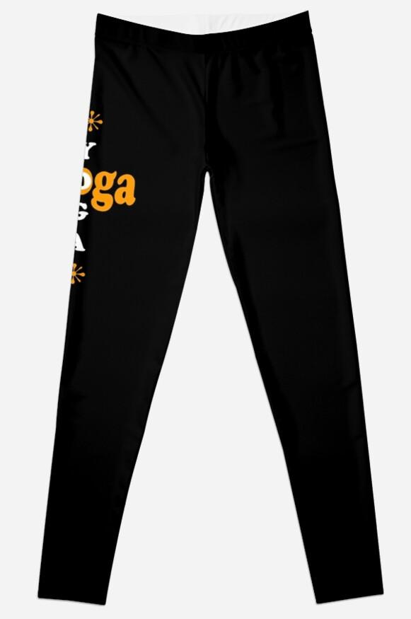 Yoga Yoga Pants black leggings by MainBrainWorks
