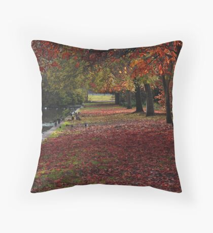 Forest Red Throw Pillow
