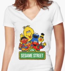 Sesame Street Women's Fitted V-Neck T-Shirt