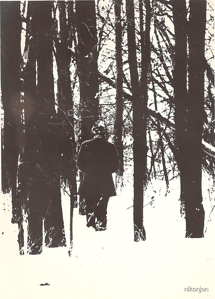 A Walk in Deep Snow/Litho by nikonjon