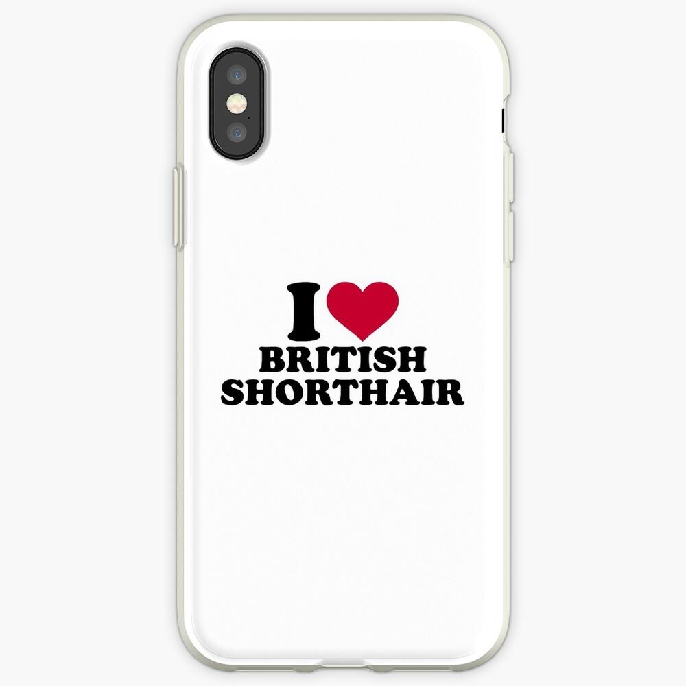 Amo British Shorthair Funda y vinilo para iPhone