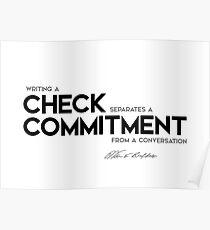 writing a check - warren buffett Poster