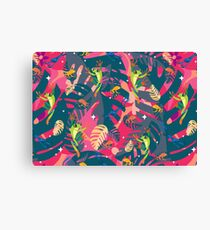 Twilight Frogs Canvas Print