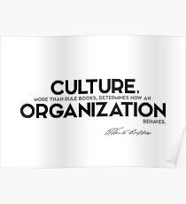 culture, organization behaves - warren buffett Poster