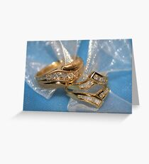 Wedding rings Greeting Card