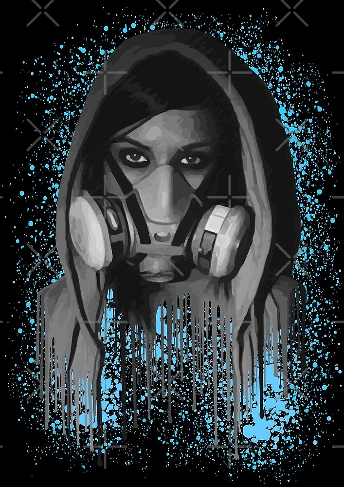 Gas Mask Woman by HogarthArts