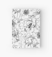 Black and white flowers Hardcover Journal