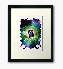 Universe Blue Box Tee The Doctor T-Shirt Framed Print