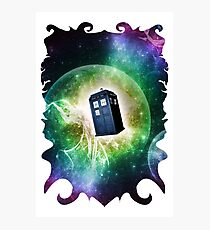 Universe Blue Box Tee The Doctor T-Shirt Photographic Print