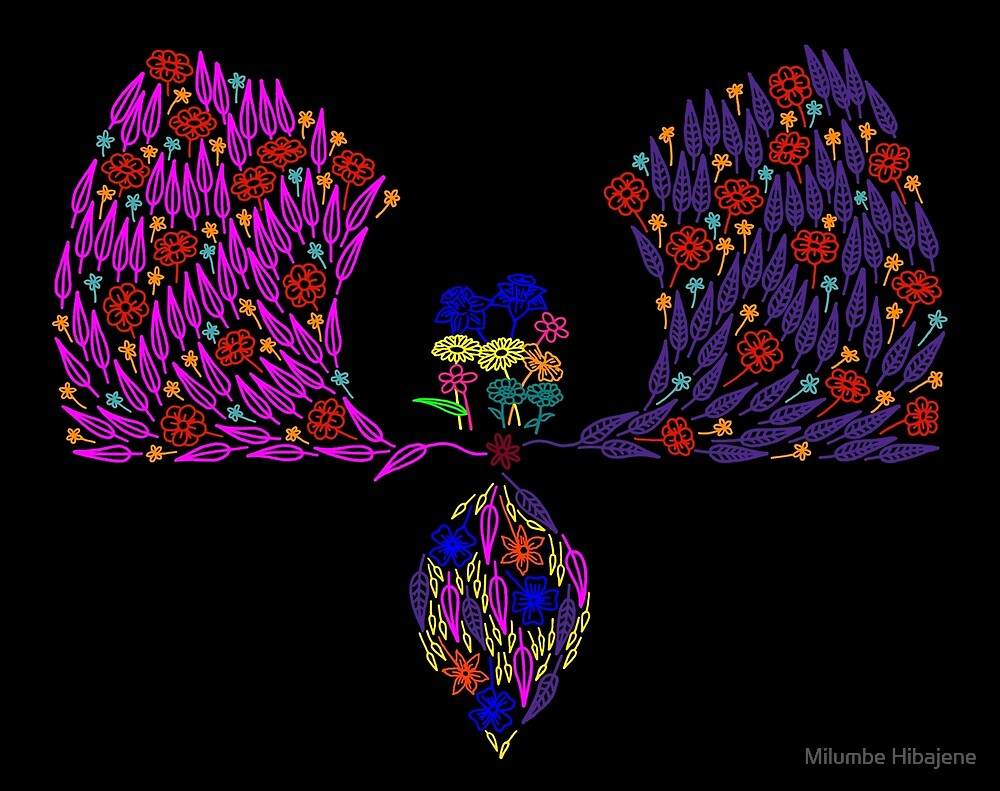 Partial Floral Arch (Colour Variant - Vibrant) by Milumbe Hibajene