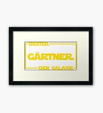 Bester Gärtner der Galaxie Framed Print