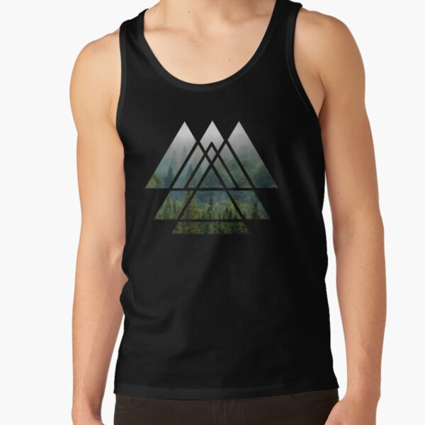 Sacred Geometry Triangles - Misty Forest Tank Top