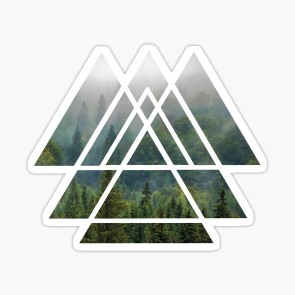 Sacred Geometry Triangles - Misty Forest Sticker