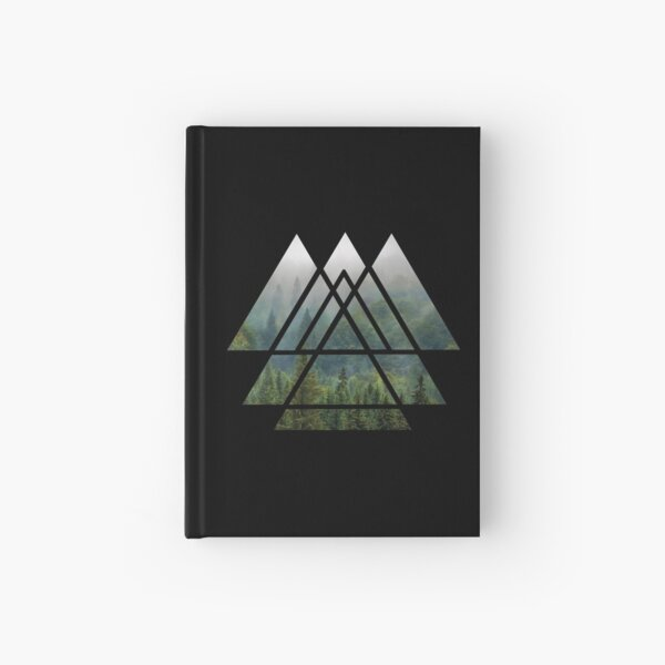 Sacred Geometry Triangles - Misty Forest Hardcover Journal
