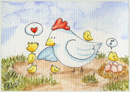 Chicken family by meervahl