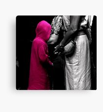 Red Girl at Wedding Canvas Print