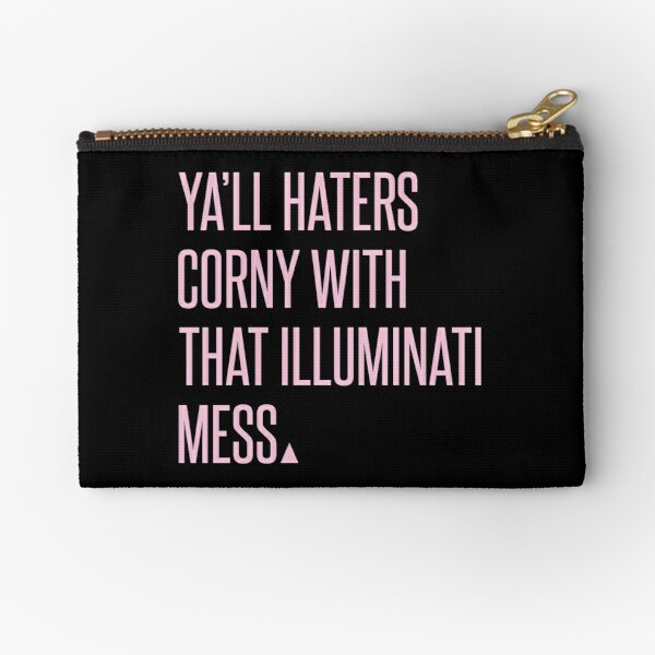 HATERS. Zipper Pouch