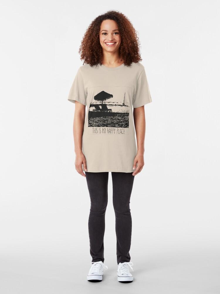 Alternative Ansicht von Beach - This is my happy place Slim Fit T-Shirt