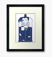 New Blue Box T-Shirt Tardis Tee Framed Print
