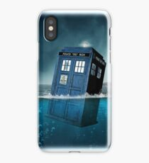 Blue Box in Water Hoodie / T-shirt iPhone Case