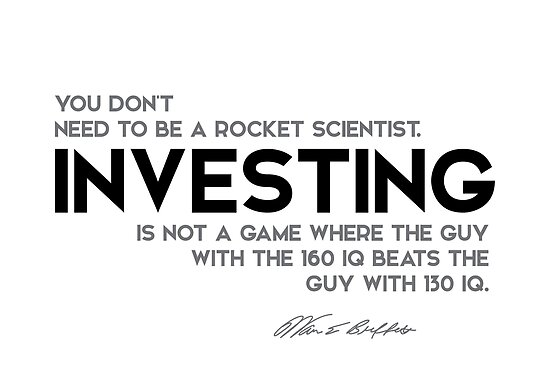 investing, a game - warren buffett by razvandrc