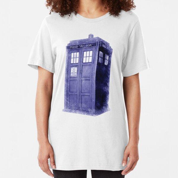 Blue Box Hoodie / T-shirt Slim Fit T-Shirt