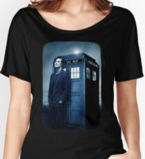 doctor smith tee Tardis Hoodie / T-shirt Women's Relaxed Fit T-Shirt