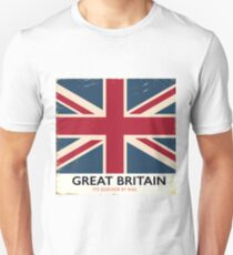 "Great Britain ""Its quicker by rail"" vintage poster Unisex T-Shirt"