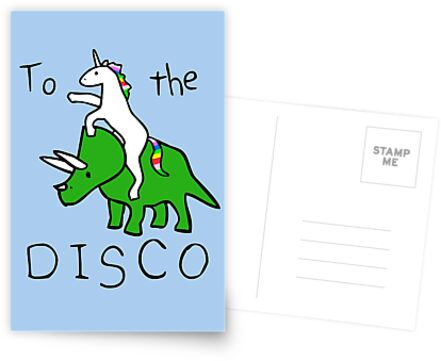 Zur Disco (Unicorn Riding Triceratops) von jezkemp
