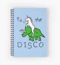 Cuaderno de espiral To The Disco (Unicorn Riding Triceratops)