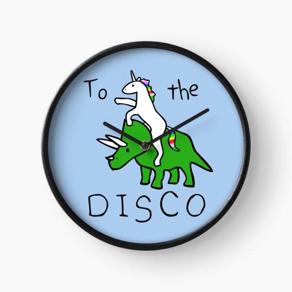 To The Disco (Unicorn Riding Triceratops) Clock