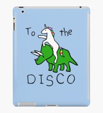To The Disco (Unicorn Riding Triceratops) iPad Case/Skin