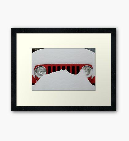Jeep Grill Framed Print