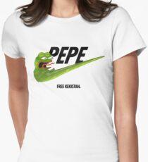 Nike Pepe FREE KEKISTAN #KEKFUGEESWELCOME Womens Fitted T-Shirt