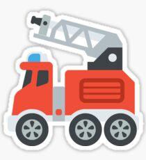 Cartoon Red Firetruck Sticker