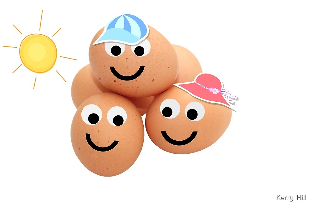 Happy little Egg Heads by Kerry  Hill
