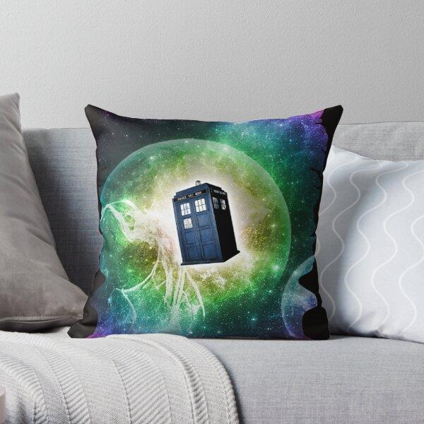 Universe Blue Box Tee The Doctor T-Shirt Throw Pillow
