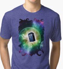 Universe Blue Box Tee The Doctor T-Shirt Tri-blend T-Shirt