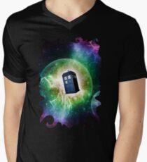 Universe Blue Box Tee The Doctor T-Shirt Men's V-Neck T-Shirt