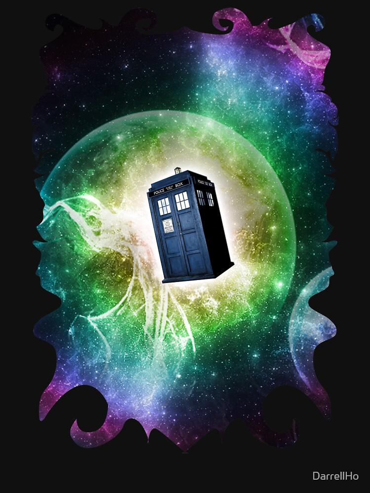 Universe Blue Box Tee The Doctor T-Shirt by DarrellHo